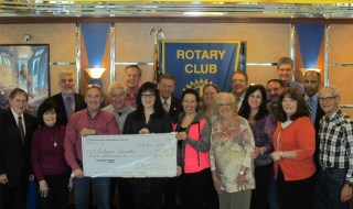 The Smithtown Sunrise Rotary Club met at Millennium Diner yesterday to present the proceeds from the Annual Snow Ball to Rick and Kathleen Lanese for Autism Speaks LI Chapter