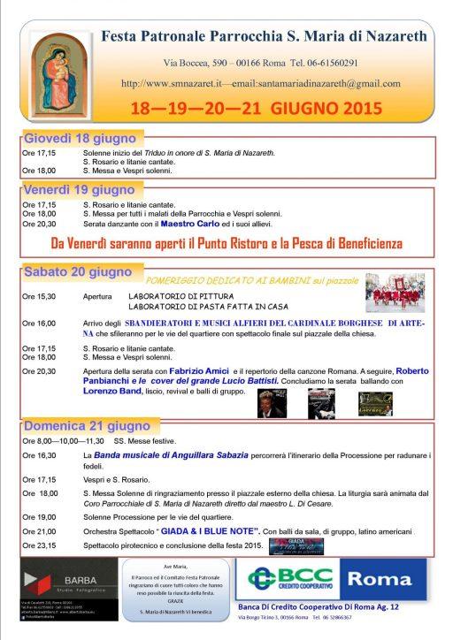 programma festa patronale 2015 A3