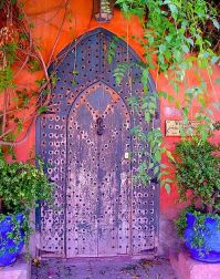 Purple Iron Door Coral facade fr beautiful portals tumblr com