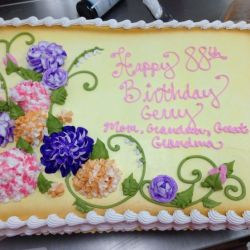 10 Floral Birthday Sheet Cakes Photo Flower Sheet Cake Birthday
