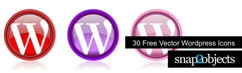 Free Vector WordPress Icons