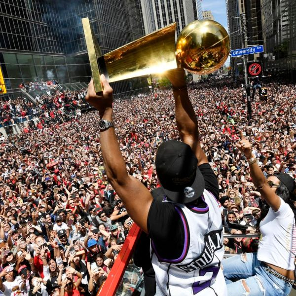 Raptors Parade Home