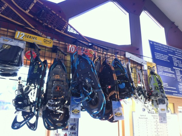 The Beaver Creek Nordic Center carries a variety of styles of Atlas Snowshoes to rent. Photo by Kim Fuller.