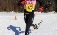 Amber Ferreira racing and winning the 2014 USSSA National Championships in Vermont (photo Joe Viger)