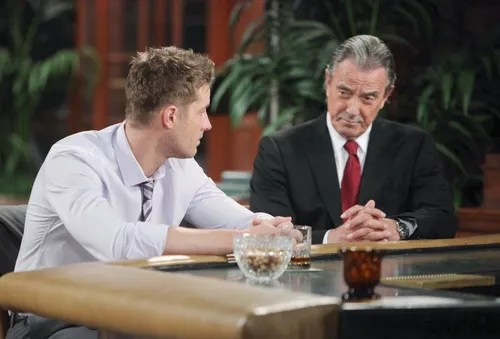 "Eric Braeden, Justin Hartley ""The Young and the Restless"" Set  CBS television City Los Angeles 03/24/15 © sean smith/jpistudios.com 310-657-9661 Episode # 10655 U.S. Airdate 04/29/15"