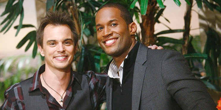 "Darin Brooks, Lawrence Saint Victor ""The Bold and the Beautiful"" Set  CBS Television City Los Angeles, Ca. 10/15/13 © sean smith/jpistudios.com 310-657-9661"