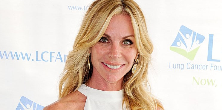 DEL MAR, CA - JULY 26:  Actress Cindy Ambuehl attends the Lung Cancer Foundation of America's 6th Annual 'Day at the Races' at the Del Mar Race Track on July 26, 2015 in Del Mar, California.  (Photo by Jerod Harris/WireImage)