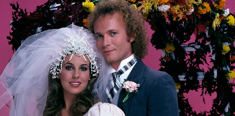 "GENERAL HOSPITAL - Luke and Laura's wedding - 11/16/81 Laura (Genie Francis) and Luke (Anthony Geary) put their turbulent past behind them and married on the grounds of the Port Charles mayor's mansion, on Monday, Nov. 16 and Tuesday, Nov. 17, 1981, when ABC Daytime invited the world to tune in to the daytime wedding of the decade, on ""General Hospital"". The long-awaited nuptials, plus guest star Elizabeth Taylor, served up the highest ratings in soap opera history.    GH81 (Photo by Bob D'Amico/ABC via Getty Images) GENIE FRANCIS, ANTHONY GEARY"