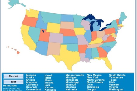 map of united states for kids quiz