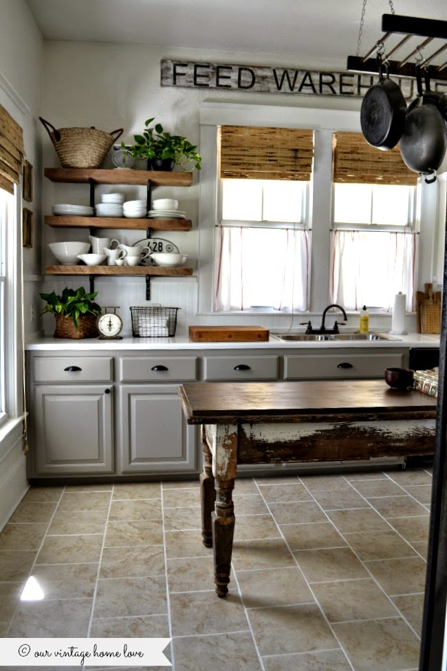 Home inspiration painted kitchen cabinets sobremesa stories for Grey wood kitchen cabinets