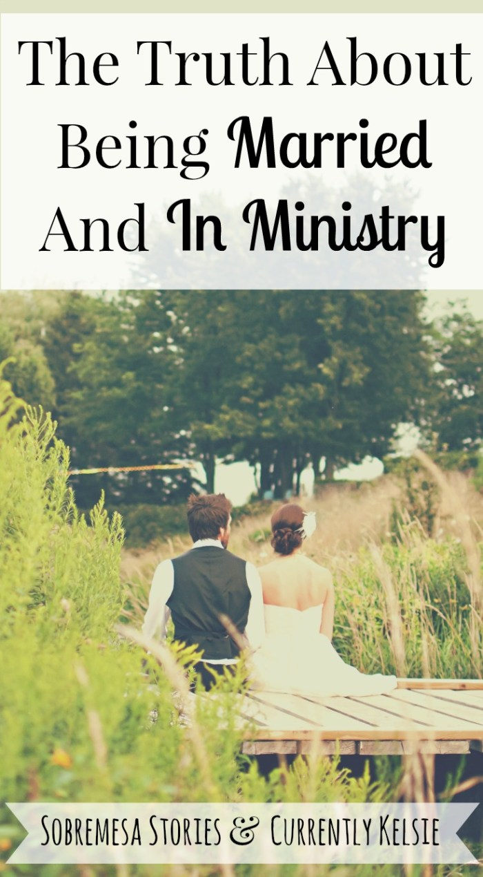 An honest perspective from a wife about the hard truths and joys of being married and in ministry together with your husband!