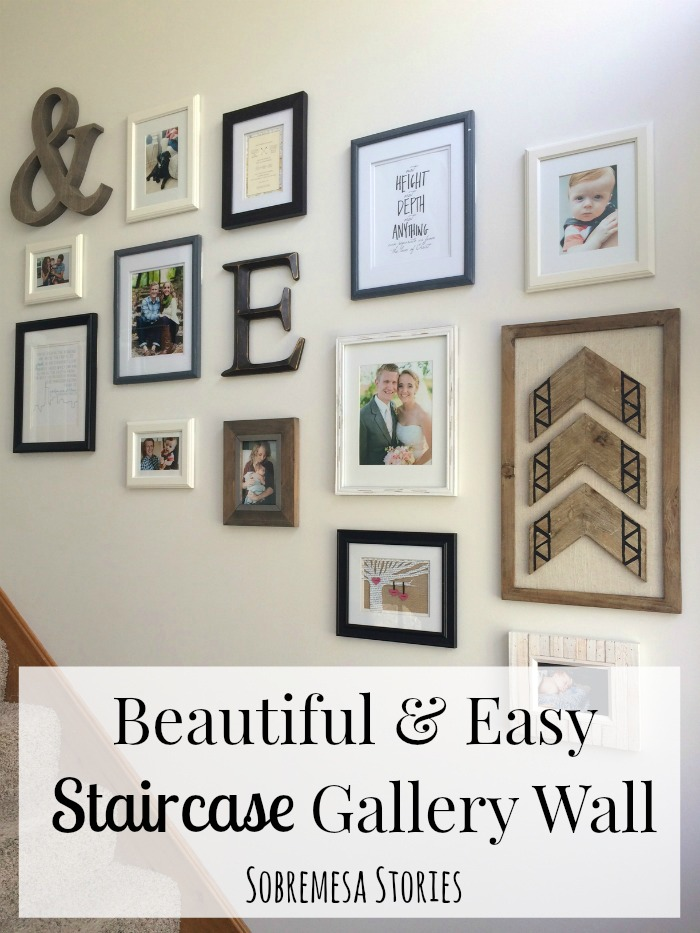 Beautiful And Easy Staircase Gallery Wall From Sobremesa Stories