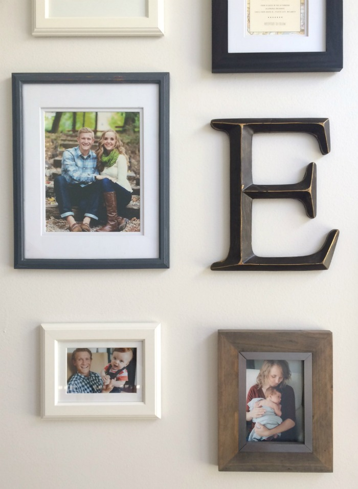 Our Staircase Gallery Wall Photos And Letter