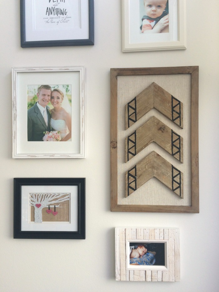 Our Staircase Gallery Wall Photos And Wooden Art