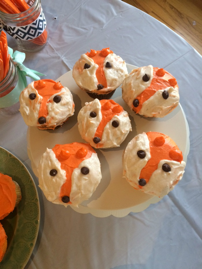 Woodland Party Fox Cupcakes