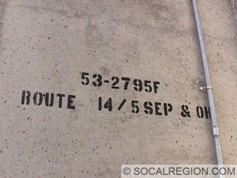 Bridge stamp on the 5N/14N ramp.