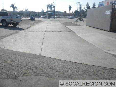 Pre-1950 alignment of Beach Blvd, just east of Beach Blvd at Garden Grove Blvd.