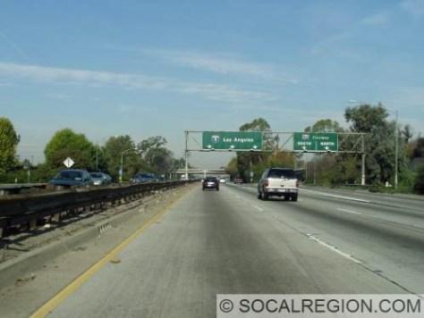 Approaching I-605 NB