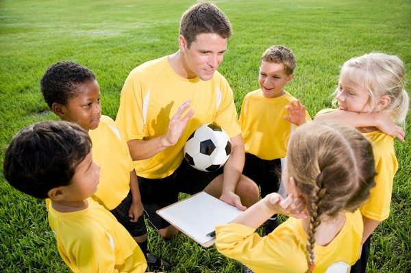 Soccer Coach with Kids