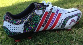 Indigenous players Auction Custom Boots For Charity