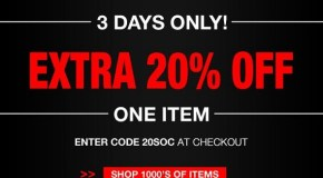 Weekend Deal – SoccerSavings 20% Off One Item