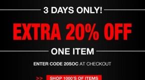 Weekend Deal – SoccerSavings 20% Off One Item