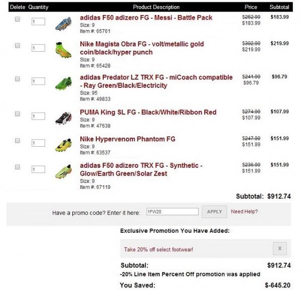 Soccer.com Deal Examples