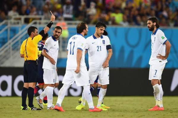 red card for katsouranis