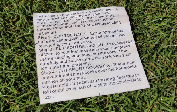 Fortisocks Directions