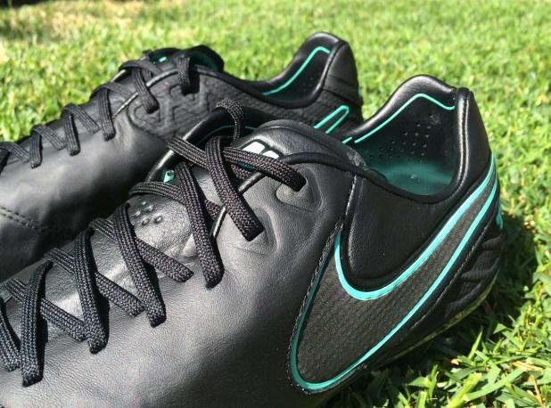 Nike Tiempo 6 Black Side View