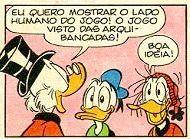 Il derby Juventus Torino è anche un fumetto Disney su Mega Almanacco, ma i bianconeri diventano la Rubentus... Una vignetta della storia brasilana di Rubentus Corino