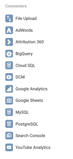 Google Data Studio lets you connect to a number of different data sources.