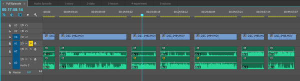 This is the full episode sequence, fully edited. It includes the five main video segments plus an intro and outro for the audio episode.