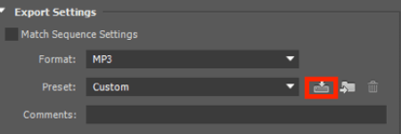 Save your Adobe Premiere export settings as a preset.