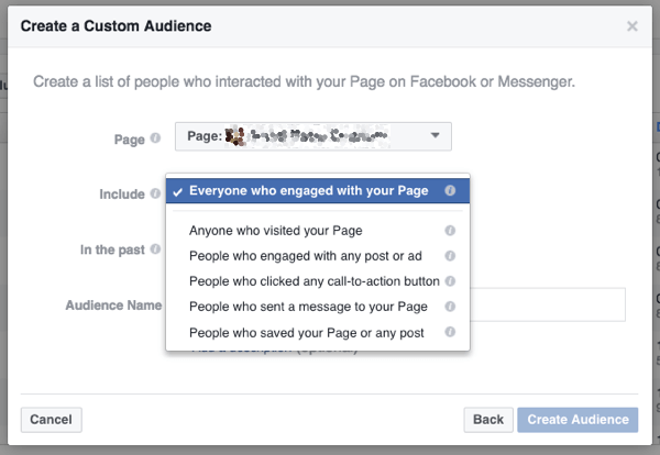 You can even retarget anyone who interacts with your page.