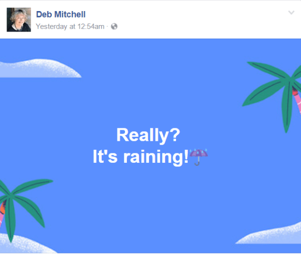 Facebook adds new backdrop options for status updates on mobile and desktop.