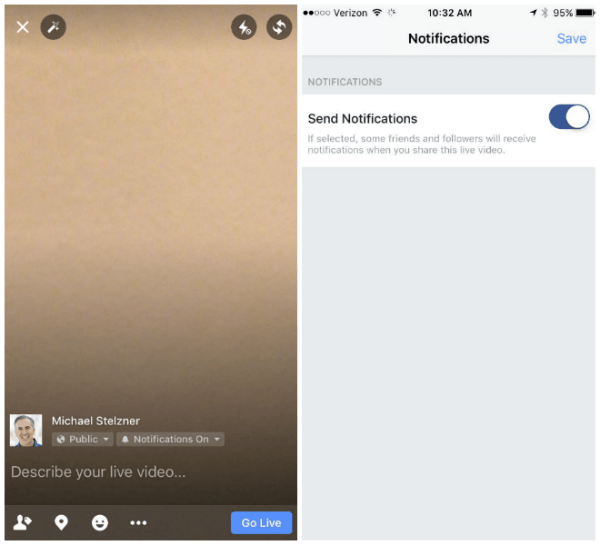 Facebook now allows broadcasters to send notifications to their friends and followers when they share a live video.