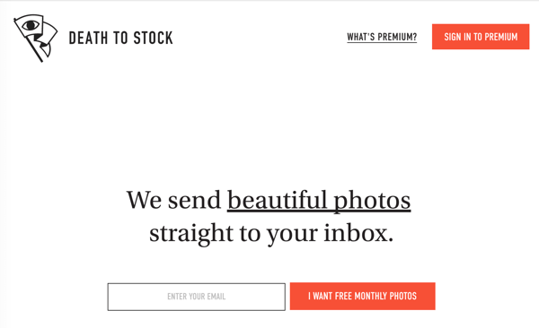 Sign up for monthly photo packs of unique royalty-free photos delivered right to your inbox.