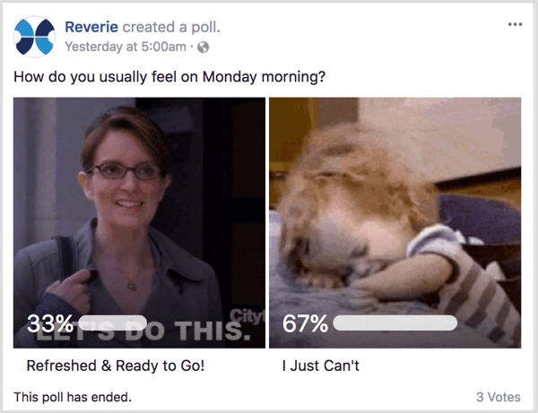 Facebook gif poll show human side