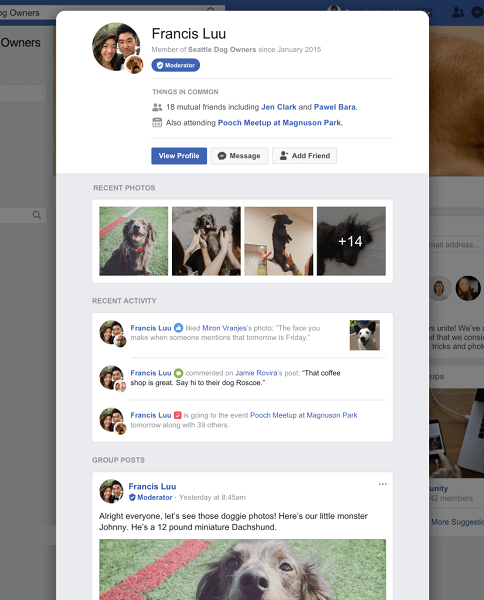 Facebook officially rolled out member profiles featuring group-specific details to help strengthen communities within groups.