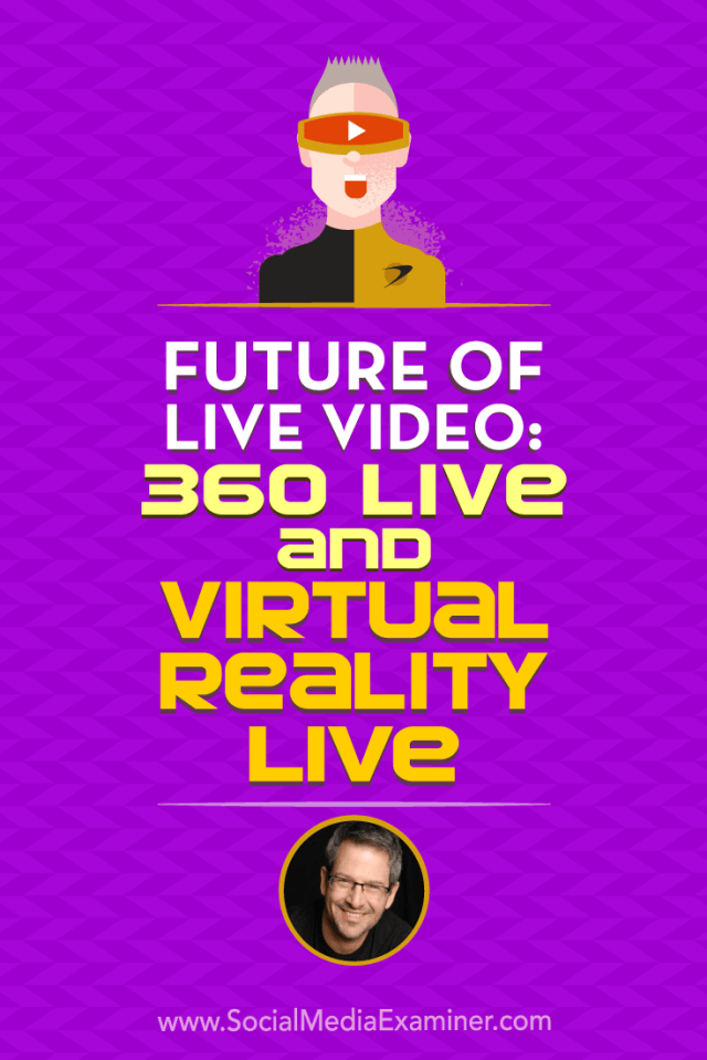 Find out how social media marketers can share immersive experiences with 360-degree video and virtual reality (VR).