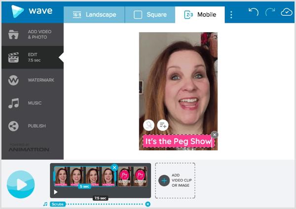 wave.video app create Facebook bumper