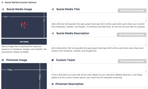 Social Warfare makes it easy to customize the look of your content when it's shared on social.