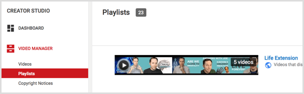YouTube playlist create rule