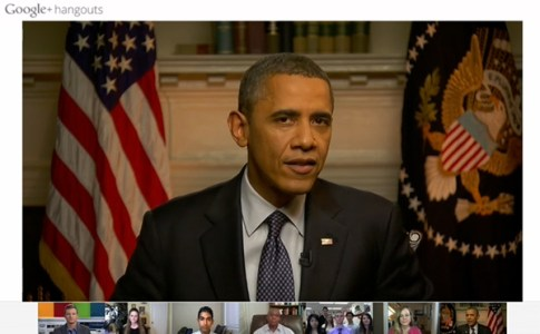 Barack Obama Live Hangout