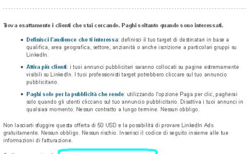 LinkedIn Ads in Italiano - Promo Sconto