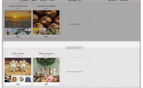 Creare Secret Board su Pinterest