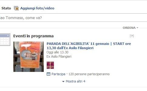 Eventi in programma - Facebook