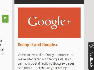 Scoop.it si integra con Google+
