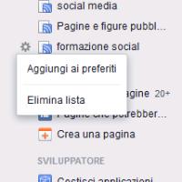 I preferiti di facebook